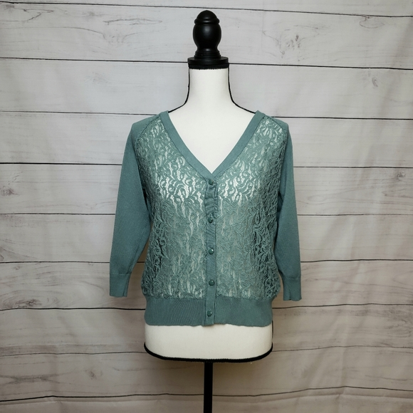 89th & Madison Lace Cardigan